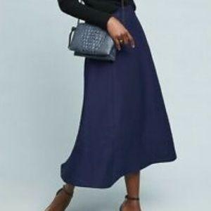 MAEVE navy Maria knit skirt size 8